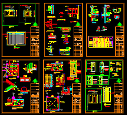 نقشه اتوکد جزییات و دیتیل های مورد نیاز نقشه های معماری شهرداری